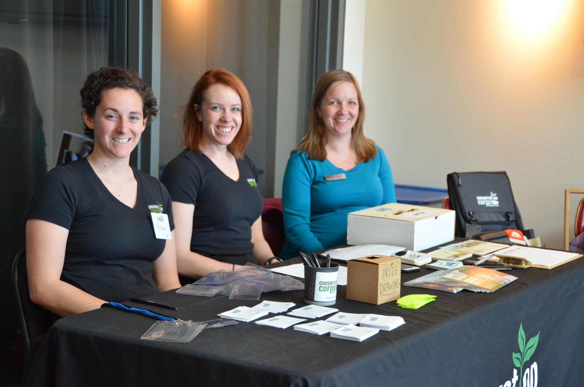 Corps staff at table