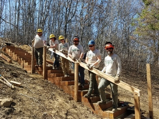 Stairway to learning: a Shakopee Crew in action