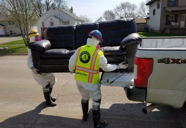 Conservation Corps MN & IA Responds to Iowa Flooding Disaster