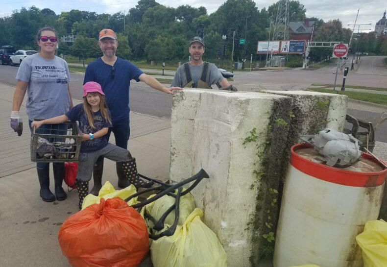 1,000 lbs of trash removed during neighborhood clean-up