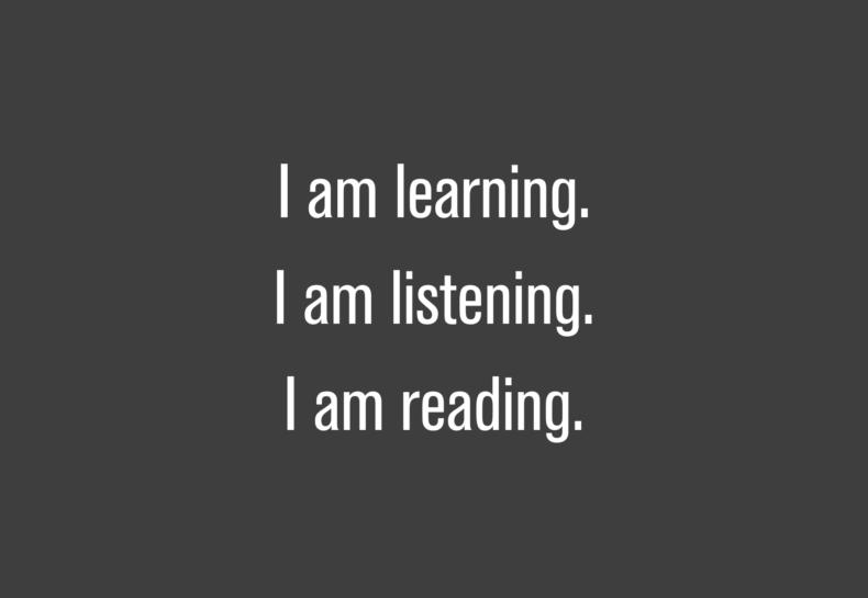 Reminder to Listen More Than I Talk.