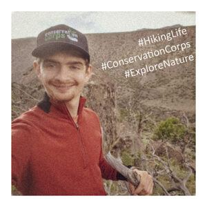 David social media photo with hashtags