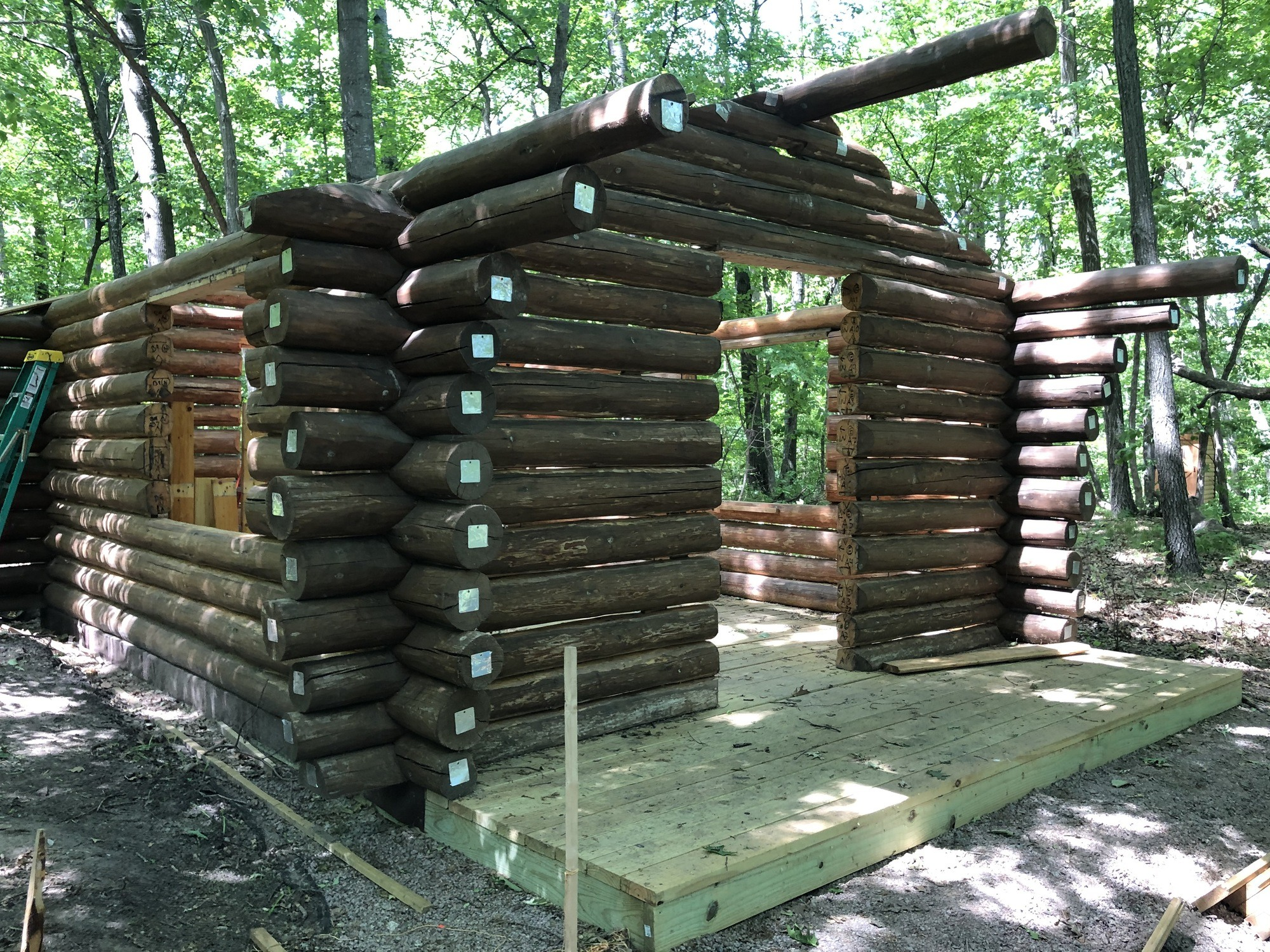 cabin without roof