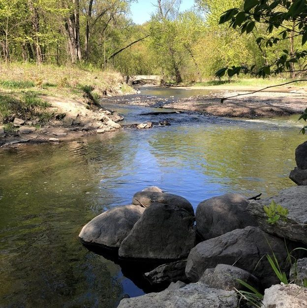 creek with boulders