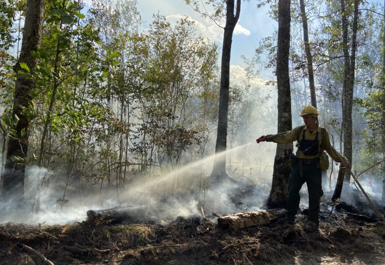Corps members double time fighting wildfires